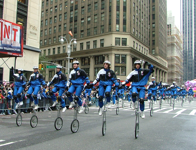 The Gym Dandies performing at the Macy's Thanksgiving Day parade in 2005.