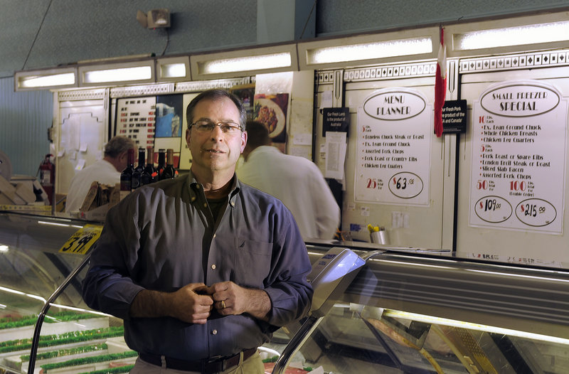 Alan Cardinal, owner of Smaha's Legion Square Market in South Portland, estimates the business lost thousands of dollars during construction on neighborhood improvements.