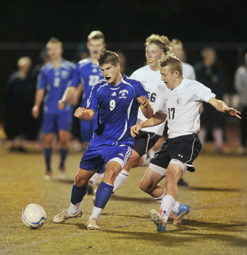 J.P. White of Falmouth led Western Class B with 12 assists to go with 12 goals, and had a knack for putting passes in perfect spots for teammates, even from long distances.