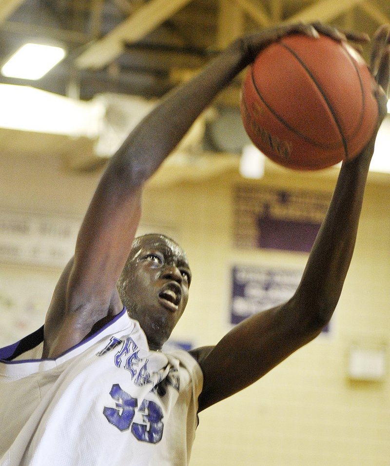 Labson Abwoch, a 6-foot-6 senior, should help make Deering a threat to win a second consecutive Class A state championship.