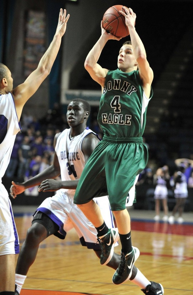 Dustin Cole led the SMAA in 3-point shooting and assists as a sophomore and is back for his third season as Bonny Eagle's point guard.