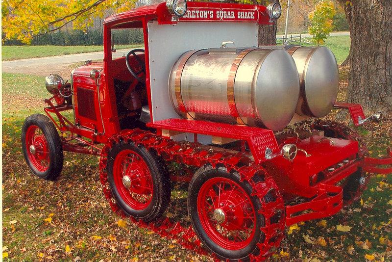 Richard Breton converted a Model A Ford into a sugar shack truck.