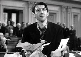 """Jimmy Stewart filibusters in """"Mr. Smith Goes to Washington."""" In recent years, senators have abused their right to filibuster."""