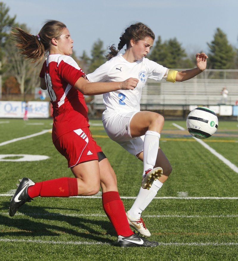 In two seasons at Falmouth High, Caitlin Bucksbaum led her team to back-to-back Class B state championships. She plans to play soccer at Villanova starting next fall.