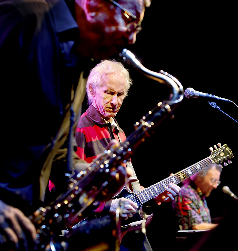 Robby Krieger, who was a guitarist for The Doors, performs with Robby Krieger's Jazz Kitchen at Port City Music Hall on Saturday.