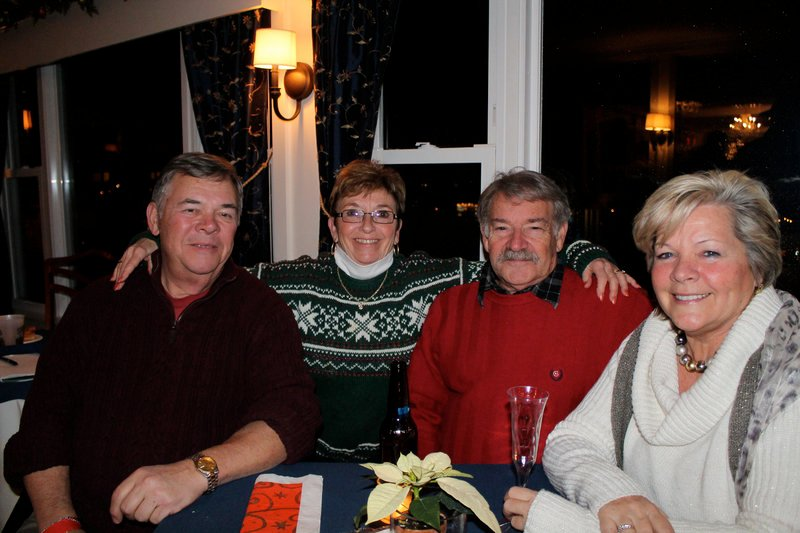Staying warm inside the Nonantum during the first of the two-night Fire & Ice Bar, from left, Ivan and Peggy Cole, Wayne Ashby and Barbara Cook, all from Kennebunk.