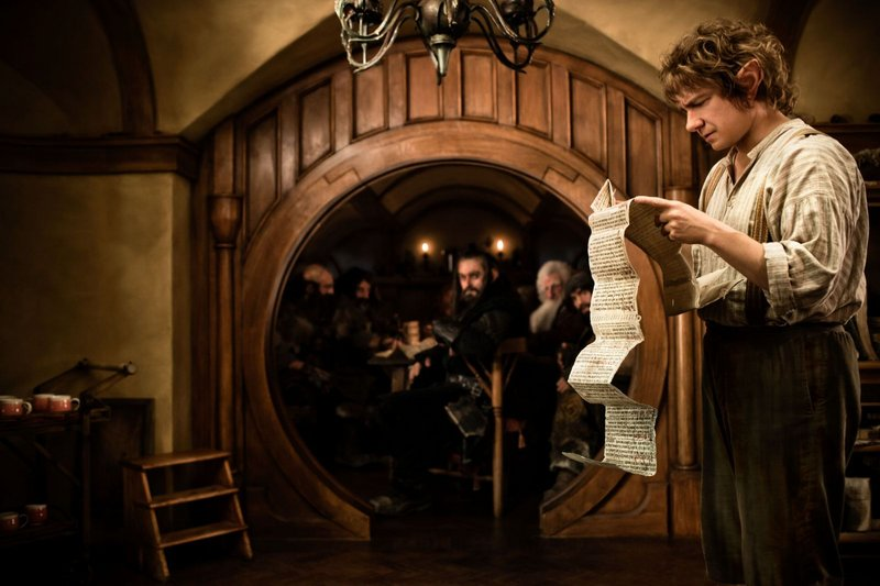 "Martin Freeman, above, is Bilbo Baggins, a hobbit about to embark on ""An Unexpected Journey."""