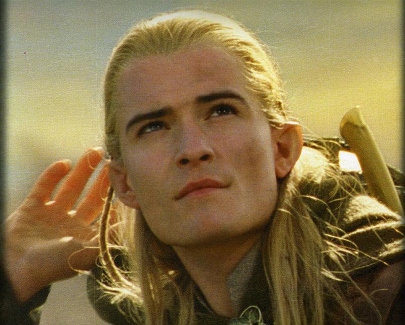 Orlando Bloom as the elf Legolas
