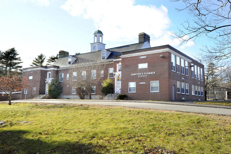 The former Plummer School in Falmouth on Tuesday, Dec. 11, 2012.