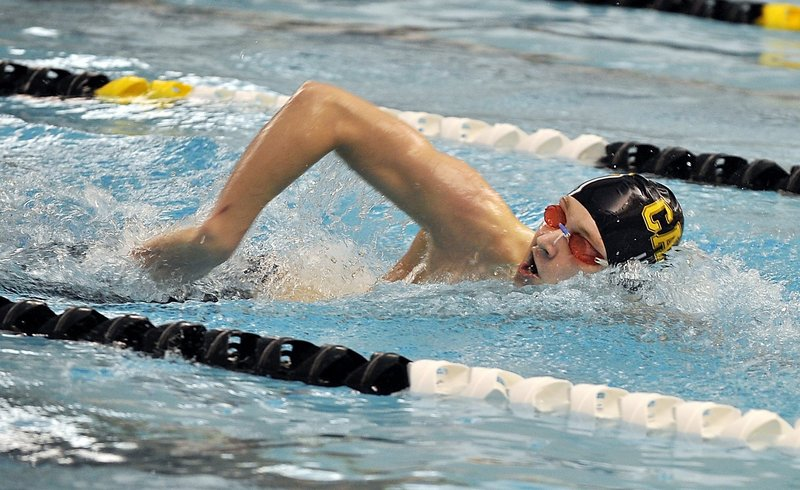 Evan Long, a Cape Elizabeth senior, will attempt to capture a third consecutive Class A state championship in the 50 freestyle.