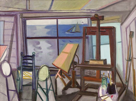 """""""Bay Studio"""" by Maurice Freedman, from """"The Holiday Show,"""" continuing through Jan. 18 at Greenhut Galleries in Portland."""