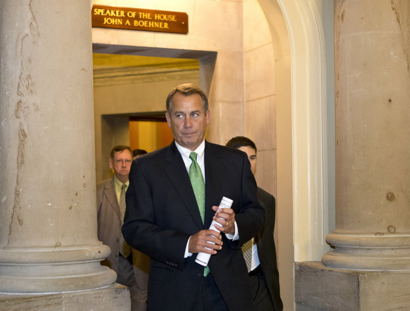 """Speaker John Boehner heads to the House floor Tuesday to deliver remarks about """"fiscal cliff"""" negotiations."""