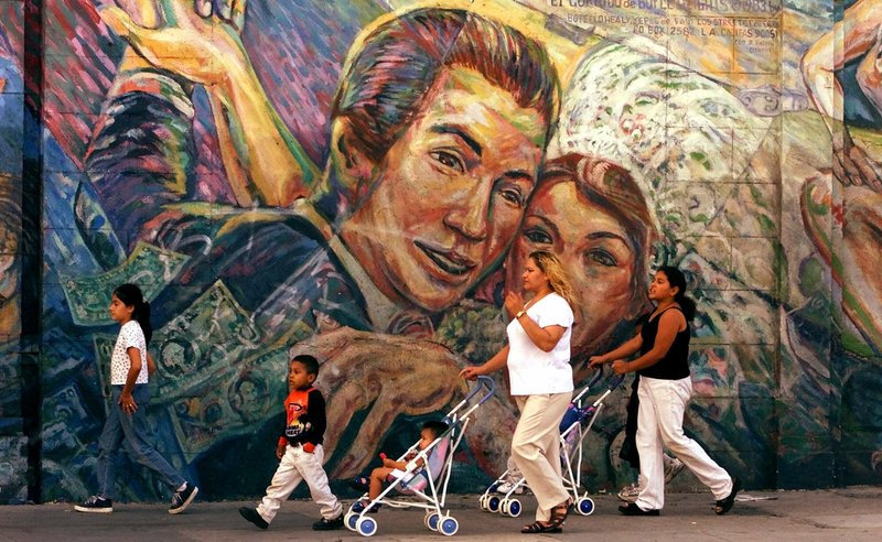"""This Hispanic family in Los Angeles is part of the fastest growing demographic in America. Even with slowing immigration, the """"die has been cast"""" for strong minority growth from births, said one immigration expert."""