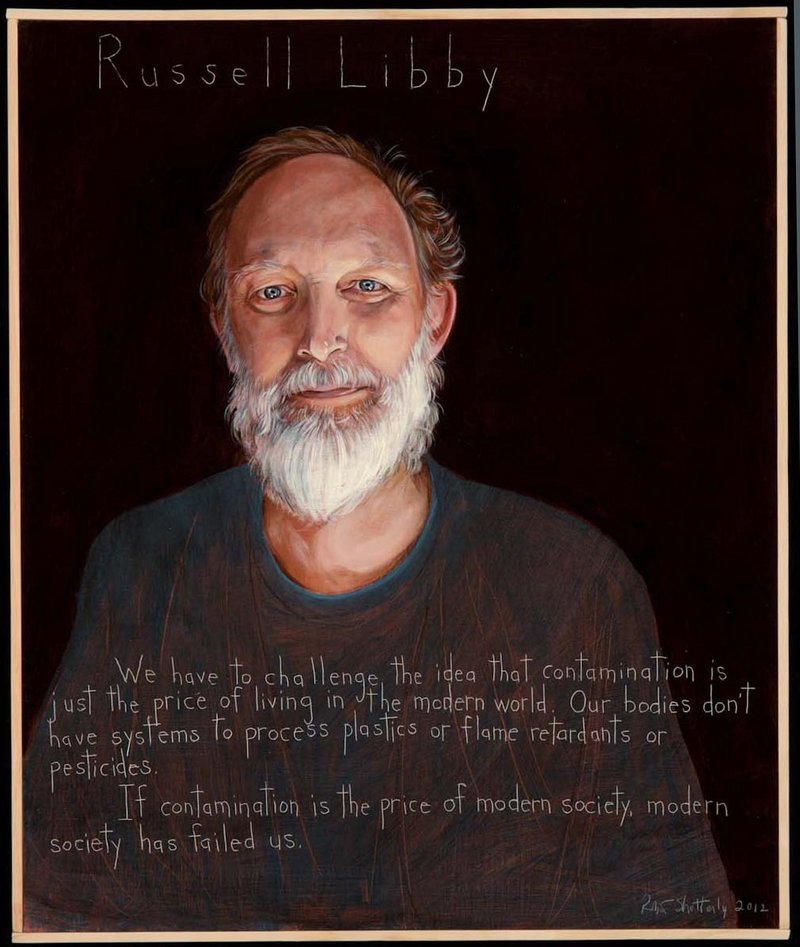 Russell Libby, a leader of the Maine Organic Farmers and Gardeners Association who died Dec. 9, is depicted in a portrait painted by Robert Shetterly