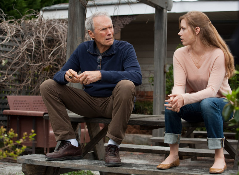 "Clint Eastwood and Amy Adams in ""Trouble With the Curve."""