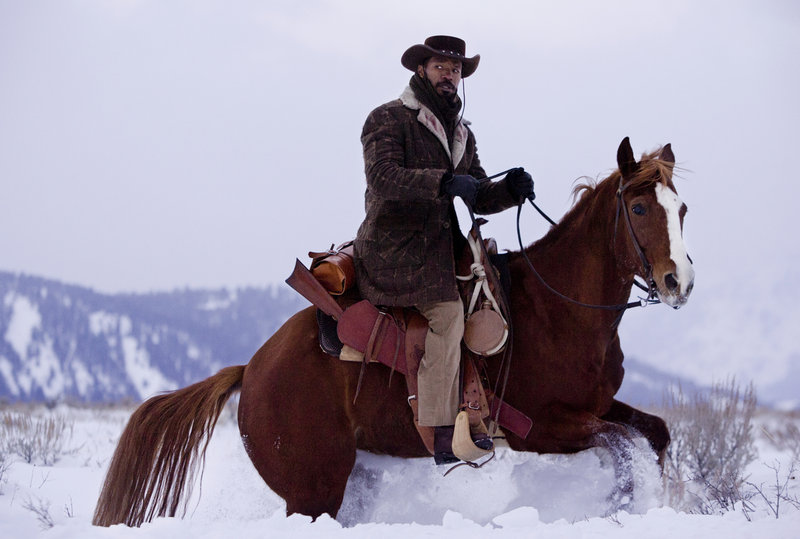 """Jamie Foxx stars as a slave with an aptitude for bounty hunting in """"Django Unchained,"""" a bloody revenge picture from director Quentin Tarantino with a nod to the spaghetti Westerns of the 1960s."""