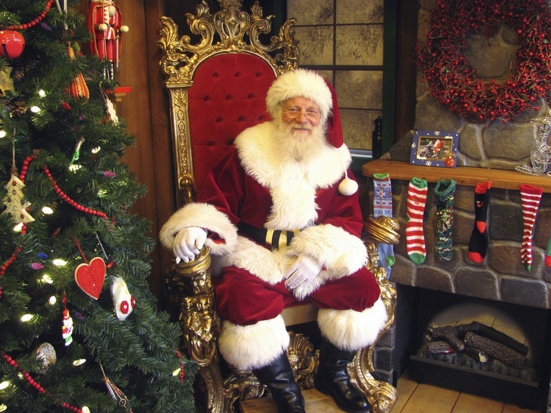 Retired airline pilot Rob Hoffman has been moonlighting as Santa for the past eight years. He belongs to an organization for Santas and works with an agency that helps place them.