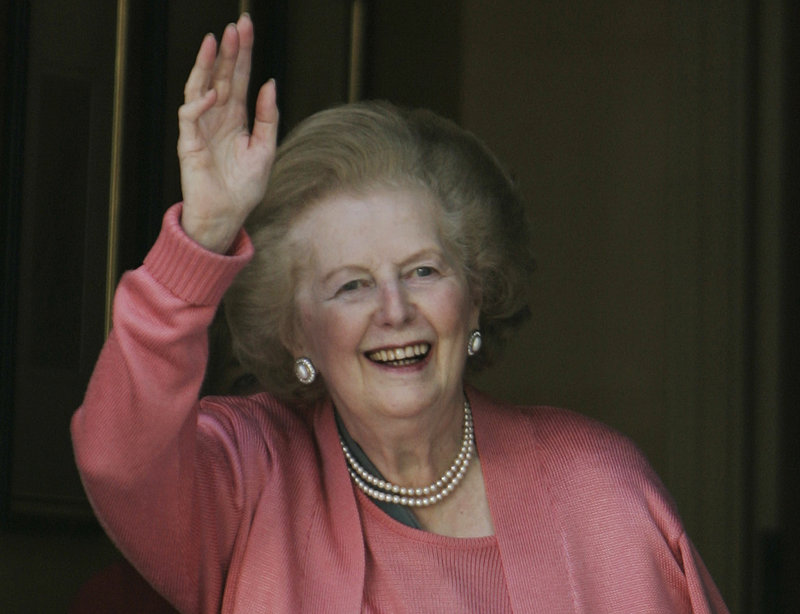 Margaret Thatcher, shown in 2009, is recuperating at a hospital after an operation to remove a bladder growth.