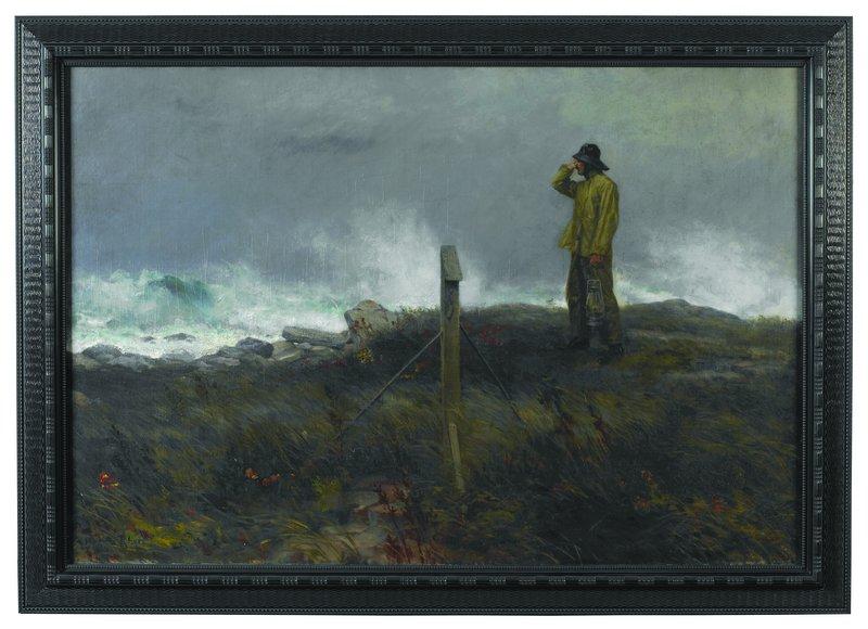 """""""Coastguardsman Walking His Beat"""" by Morgan Rhees."""