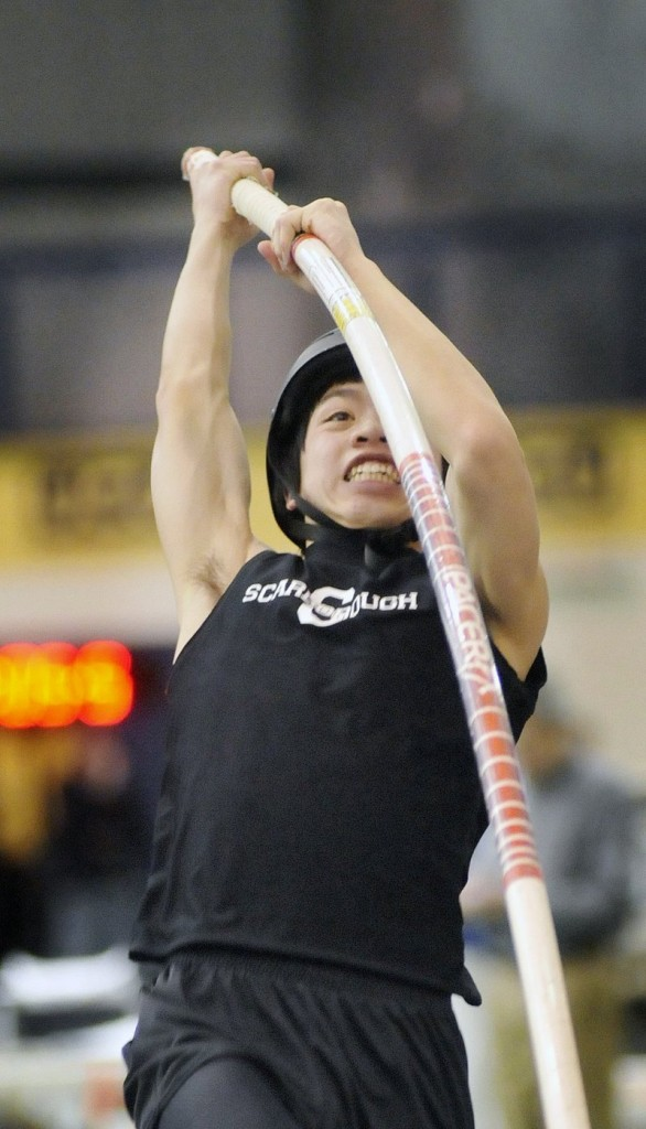 Alec James of Scarborough won the Class A pole vaulting championship last year at 12 feet, 6 inches, and is hoping to soar even higher for the Red Storm in his senior season.