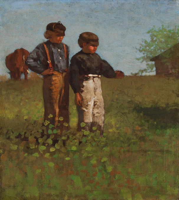 """Winslow Homer's """"Young Farmers (Study for 'Weaning the Calf'),"""" 1873-74"""