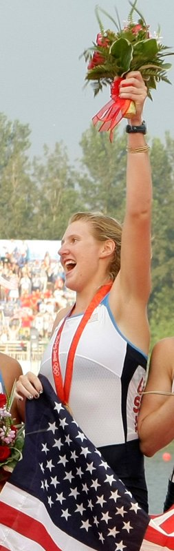 Eleanor Logan of Boothbay Harbor traveled to London over the summer and returned with a gold medal – her second – as part of the women's eight crew. At 24, a third gold is possible.