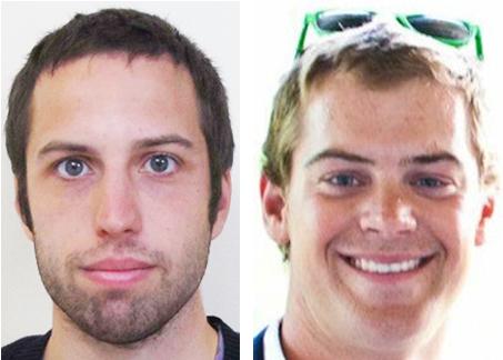 Zachery Wells, 21, of Burlington, Vt., and Prescott Wright, 23, of Barnstable, Mass.