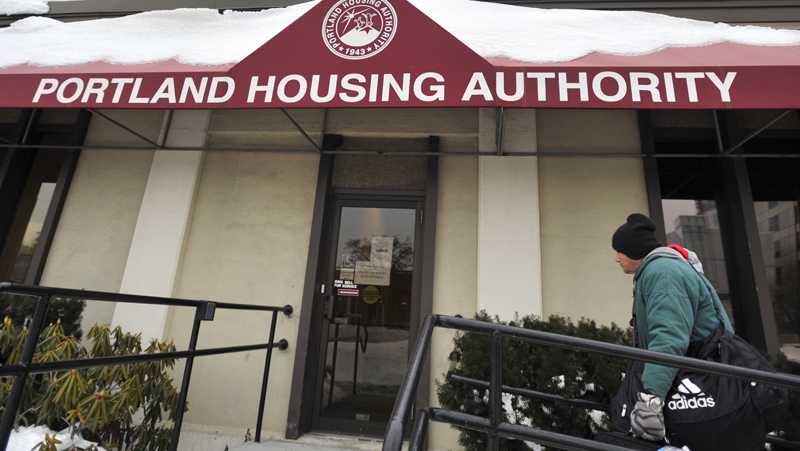 Charles Jones visits the Portland Housing Authority Friday morning to fill out forms for assistance. Experts say no community has yet figured out a working strategy for dealing with the demographic wave represented by baby-boomer generation men like Jones.