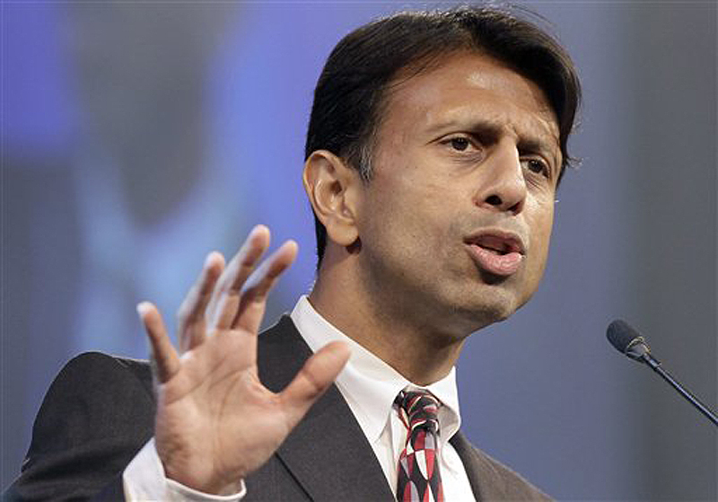In this July 27, 2012, file photo, Louisiana Gov. Bobby Jindal speaks in Hot Springs, Ark. Jindal is calling on the Republican Party to