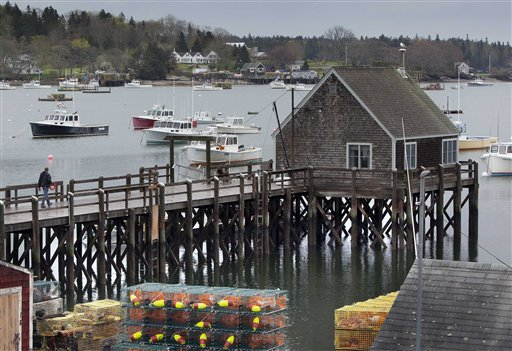 A wharf in Friendship, Maine on Thursday, May 10, 2012. The U.S. House of Representatives has shut out New England fishermen from any emergency aid in its pending disaster relief bill. ortheast fishermen became eligible for federal aid last year after a national fishery disaster was declared in the region, due to the unexpectedly slow recovery of stocks of bottom-dwelling groundfish, such as cod and flounder. (AP Photo/Robert F. Bukaty)