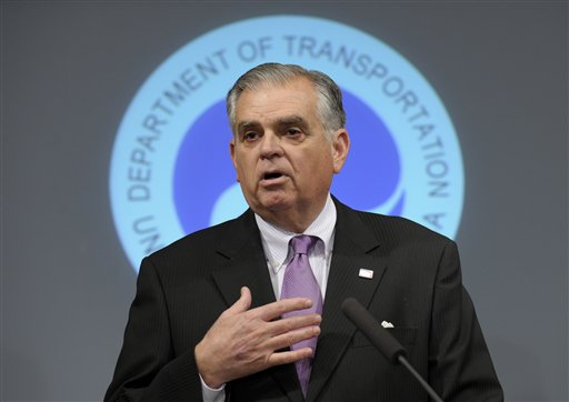 In this Jan. 11, 2013, photo, transportation Secretary Raymond LaHood discusses a comprehensive safety review of the Boeing 787, including the design, manufacture and assembly.