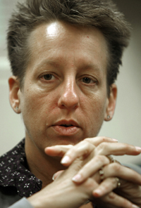Patricia Barnhart, 45, drew criticism in 2011 when she bought five acres and three houses from the state for far below their assessed value.