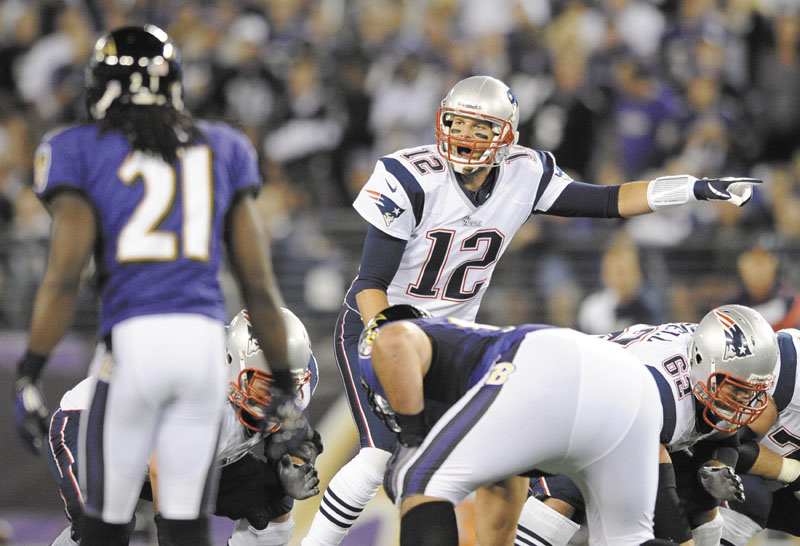 Quarterback Tom Brady and the Patriots will play the Ravens in an AFC Divisional Playoff on Saturday.