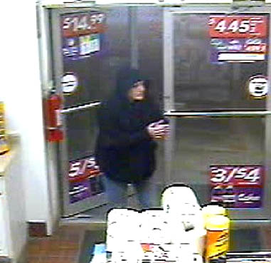 Police released this video surveillance image of the woman who they say committed an armed robbery at the Circle K in Farmingdale Sunday night.