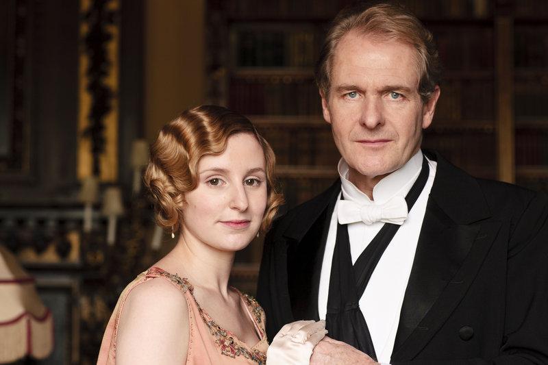 Lady Edith and Sir Anthony Strallan (Laura Carmichael and Robert Bathurst)