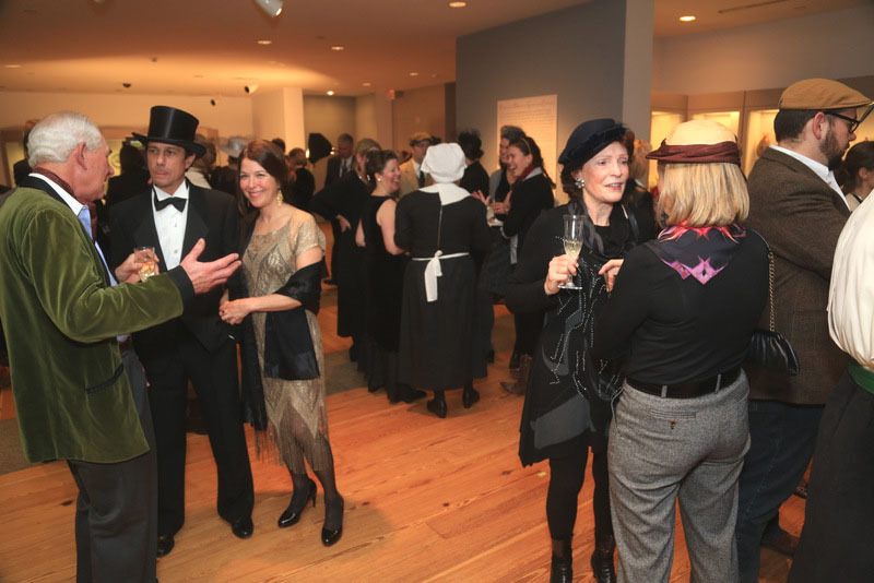 """Costumed guests enjoy a """"Downton Abbey""""-themed MPBN party in December."""