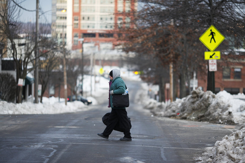 Here is a look at how Charles Jones, 55, spent part of his time last week: Above, he walks to the Preble Street Resource Center on Friday after spending the night at the Oxford Street Shelter. ...