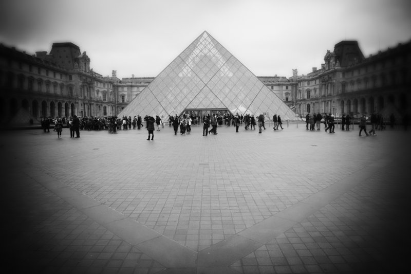 """""""Louvre Entrance,"""" from """"Visual Whispers"""" by Dan Dow."""