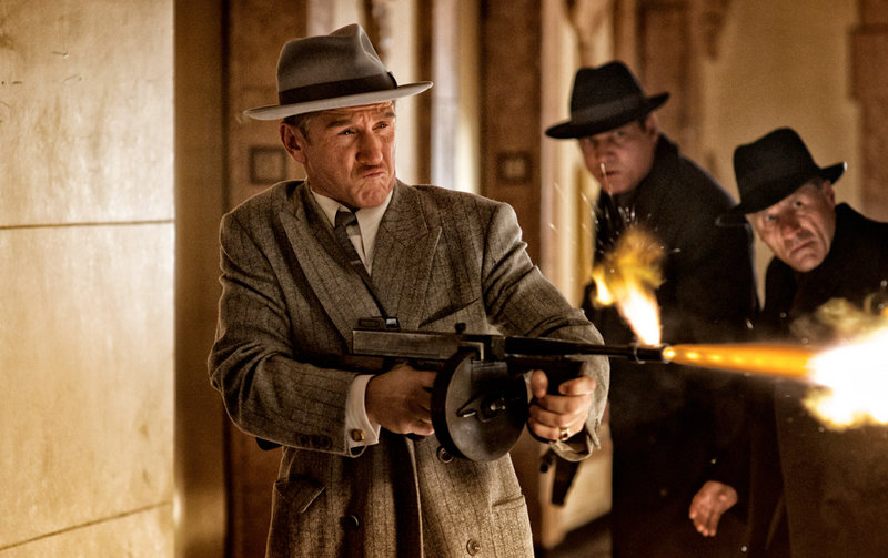 """Sean Penn as the racketeer Mickey Cohen in """"Gangster Squad."""""""