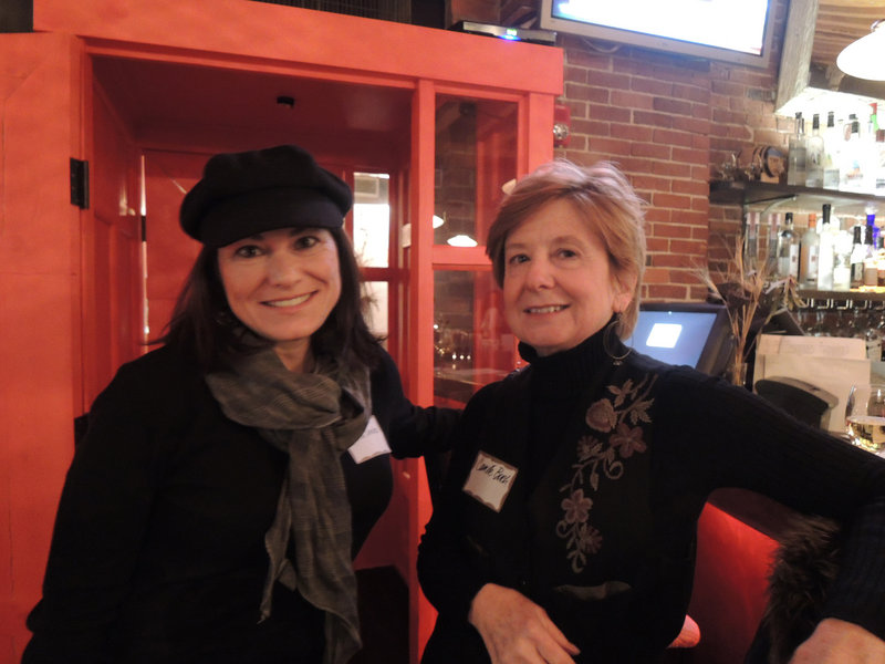 Marni Sienko of Marni Lyn Photography, and Came Buch of Buch Design & Illustration, both at their first Facebook Maine event.