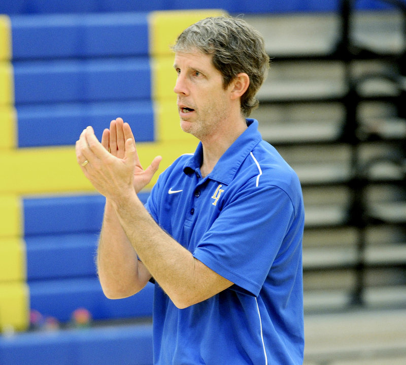 """Paul True, Lake Region High School girls' basketball coach: """"Parents are much more involved, and it can be a very positive situation if the coach fosters that relationship and puts an emphasis on communication."""""""