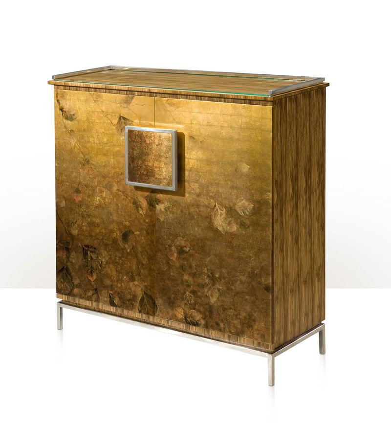 An Autumnal Glow chest from furniture maker Theodore Alexander.