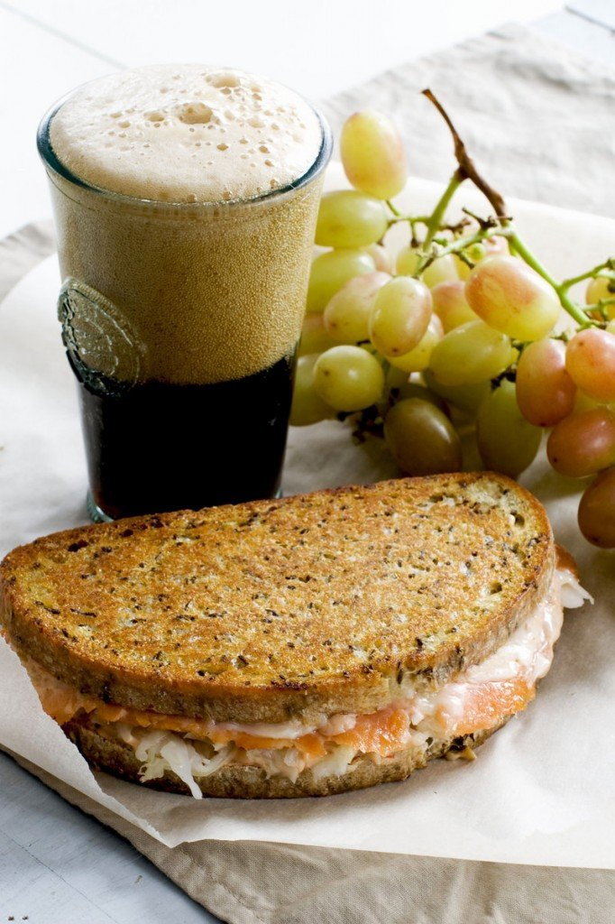 The smoked salmon Reuden panini may offend purists who insist on corned beef and rye, but this version is healthier and just as tasty.