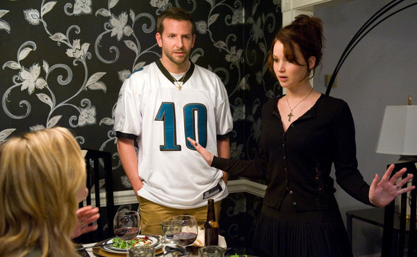 Bradley Cooper and Jennifer Lawrence in