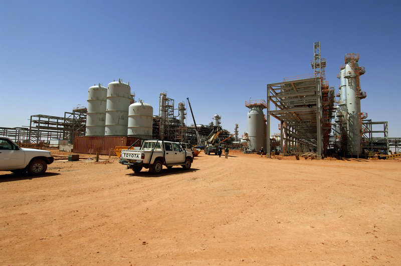This April 2005 photo released by Statoil shows the Ain Amenas gas field in Algeria, where Islamist militants conducted a raid and took hostages Wednesday in the Sahara desert. The militants hunkered down for the night in the natural gas complex and were surrounded by government forces.