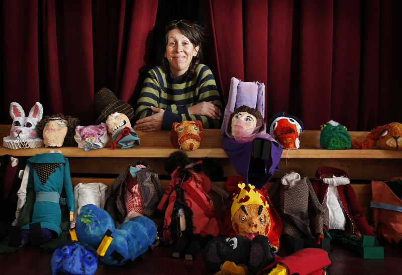 """Blainor McGough, executive director of Mayo Street Arts in Portland, will use some of these marionettes in an upcoming production of """"Alice in Wonderland."""""""