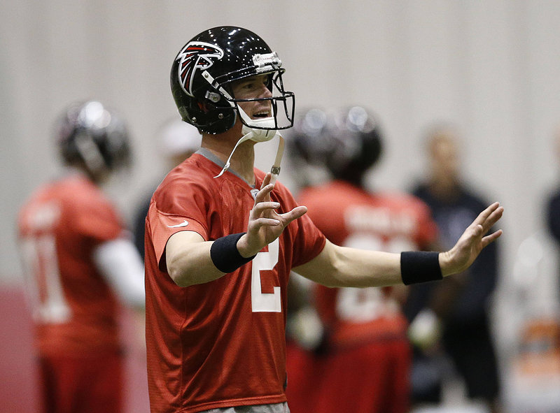 Matt Ryan, the Atlanta Falcons' quarterback, had the burden of never winning a playoff game finally removed last week, but now he and his team have much loftier goals.