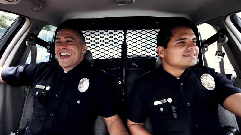 """Jake Gyllenhaal and Michael Pena in """"End of Watch."""""""