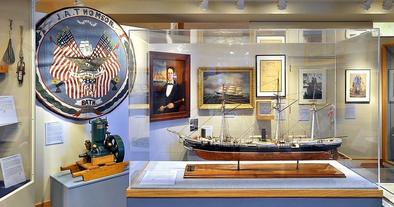 """Ahead Full at Fifty: 50 Years of Collecting"" is on view at the Maine Maritime Museum in Bath."
