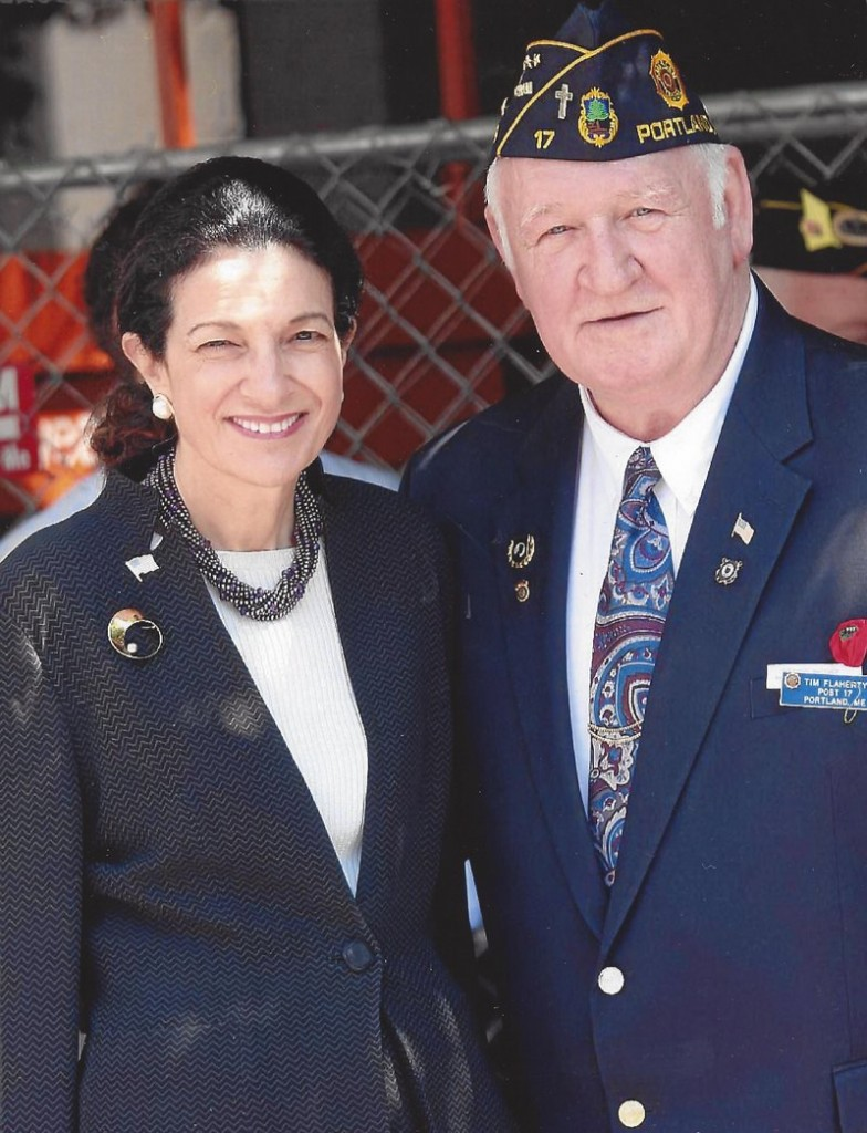 Timothy Flaherty and former U.S. Sen. Olympia Snowe, R-Maine.